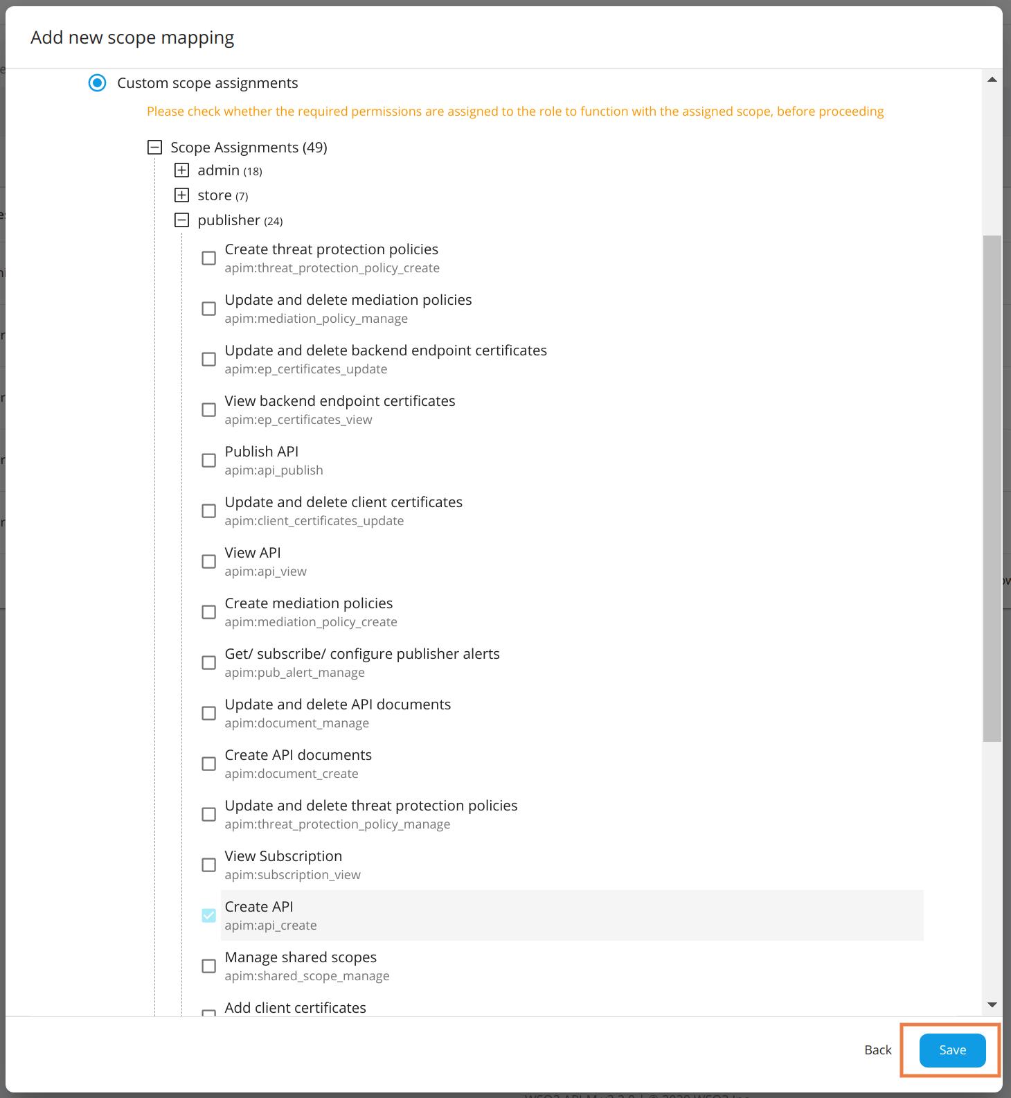Add Custom Scope Mapping