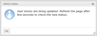 Secondary user store update msg