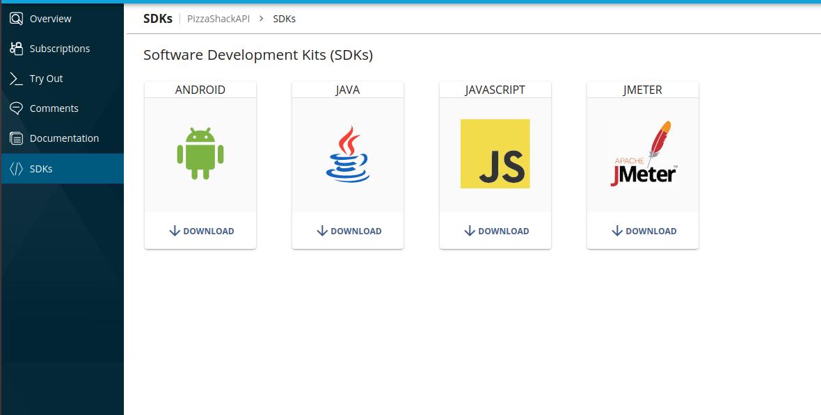 Default SDKs in Developer Portal