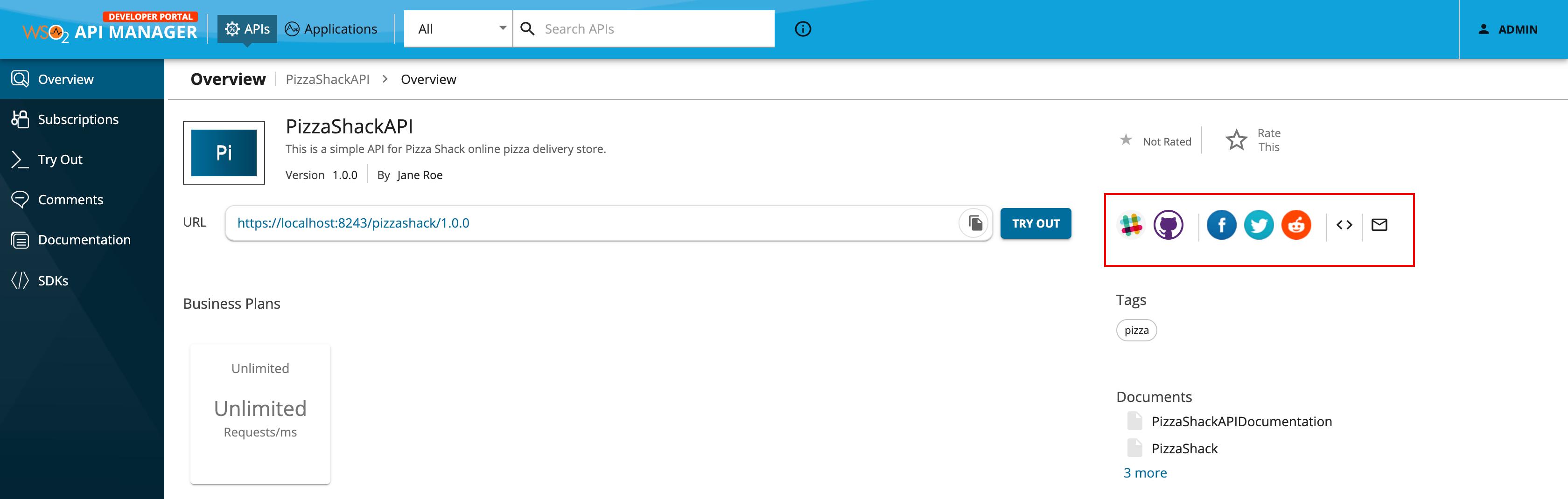 Developer Portal community links with Slack and Github