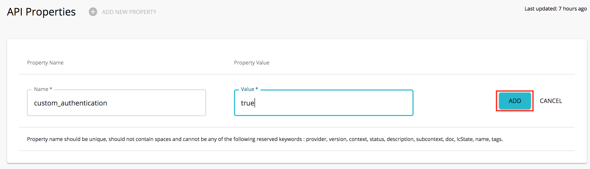 Add Custom Property