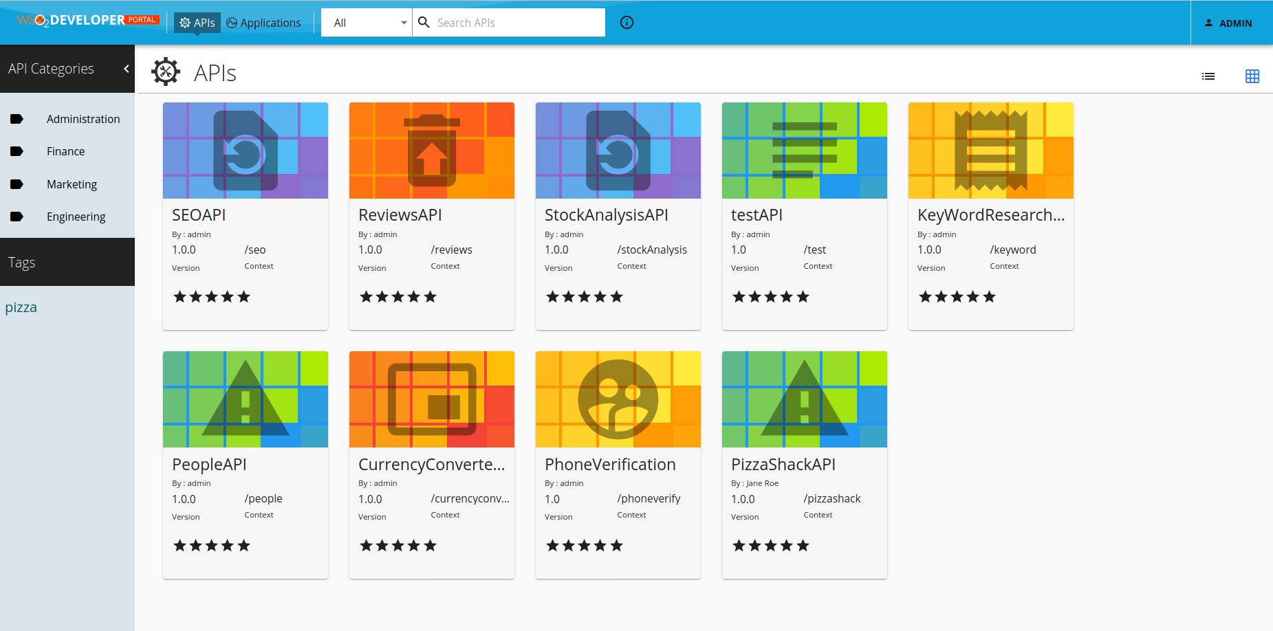 developer portal of wso2 api manager
