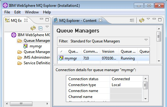 Created Queue Manager