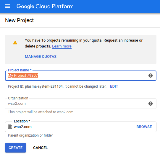 Bigquery create project step3