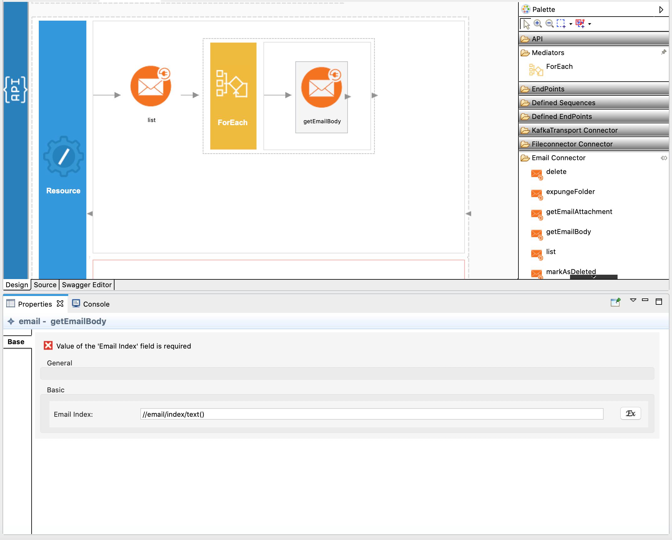 Adding getEmailBody operation.