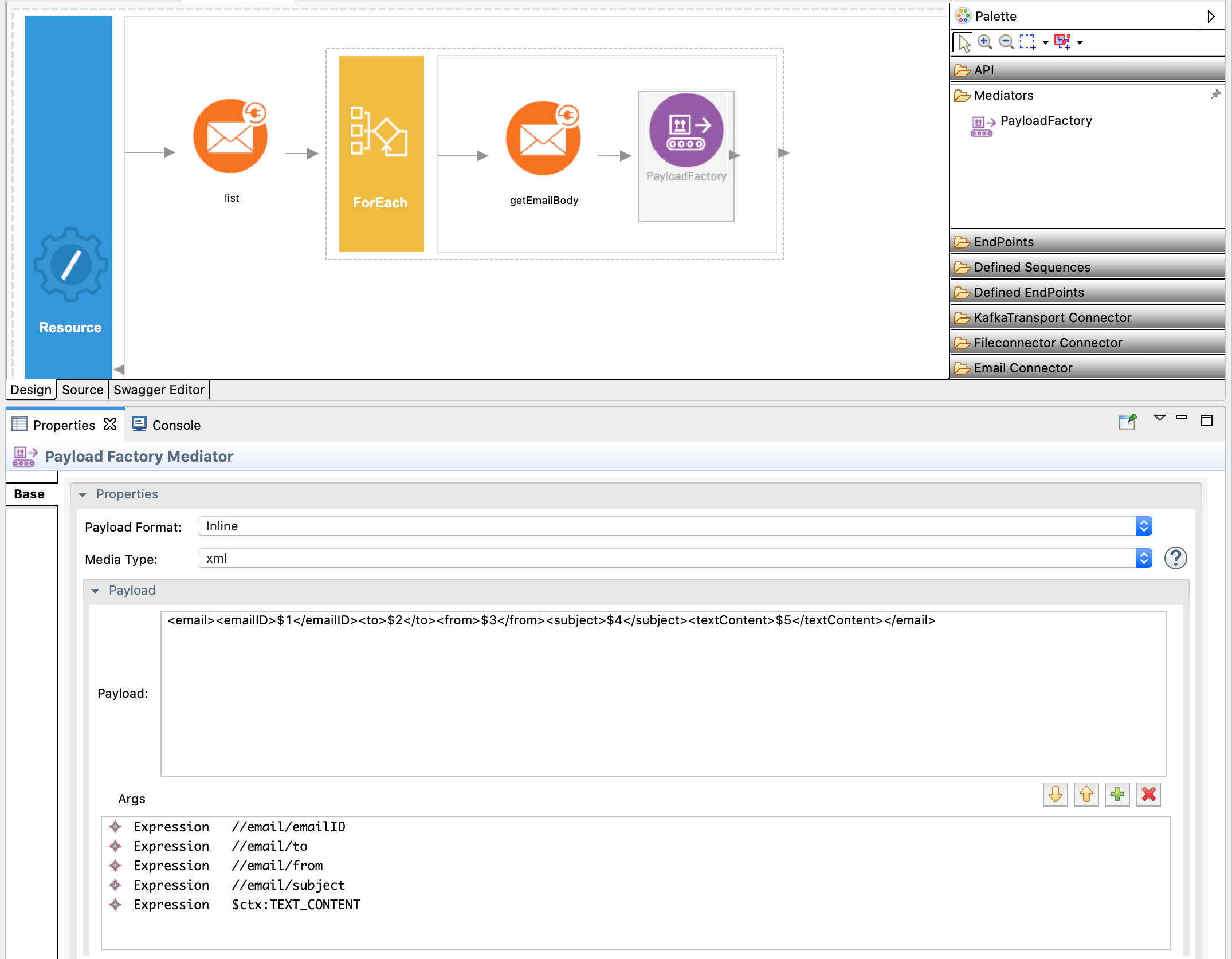 Adding payload facotry mediator.