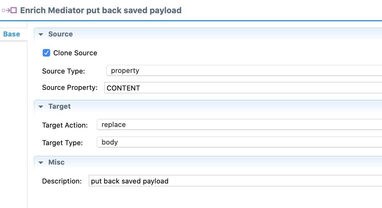 enrich - put back payload