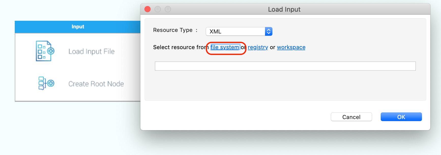load input