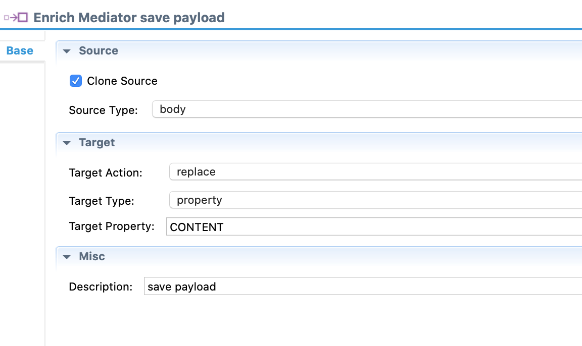 enrich - save payload