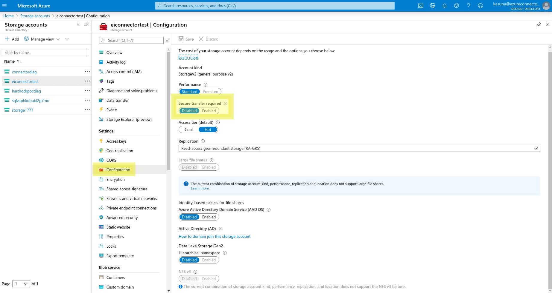Copy access keys