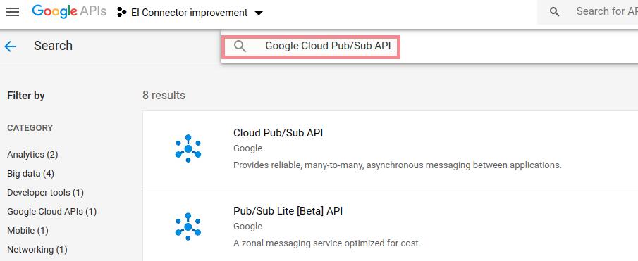 Pubsub API