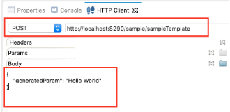 Sample template payload