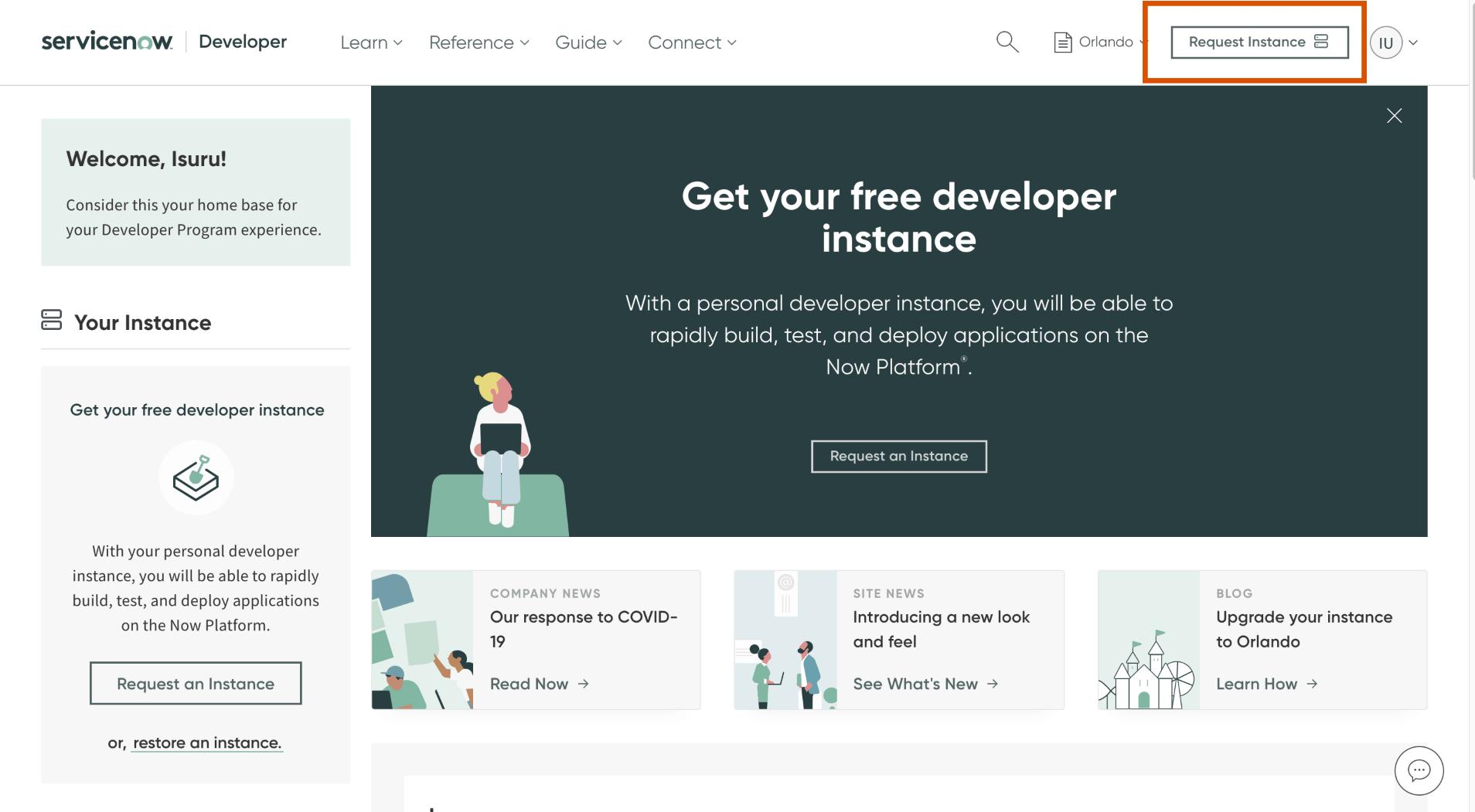 Login to Developer Account