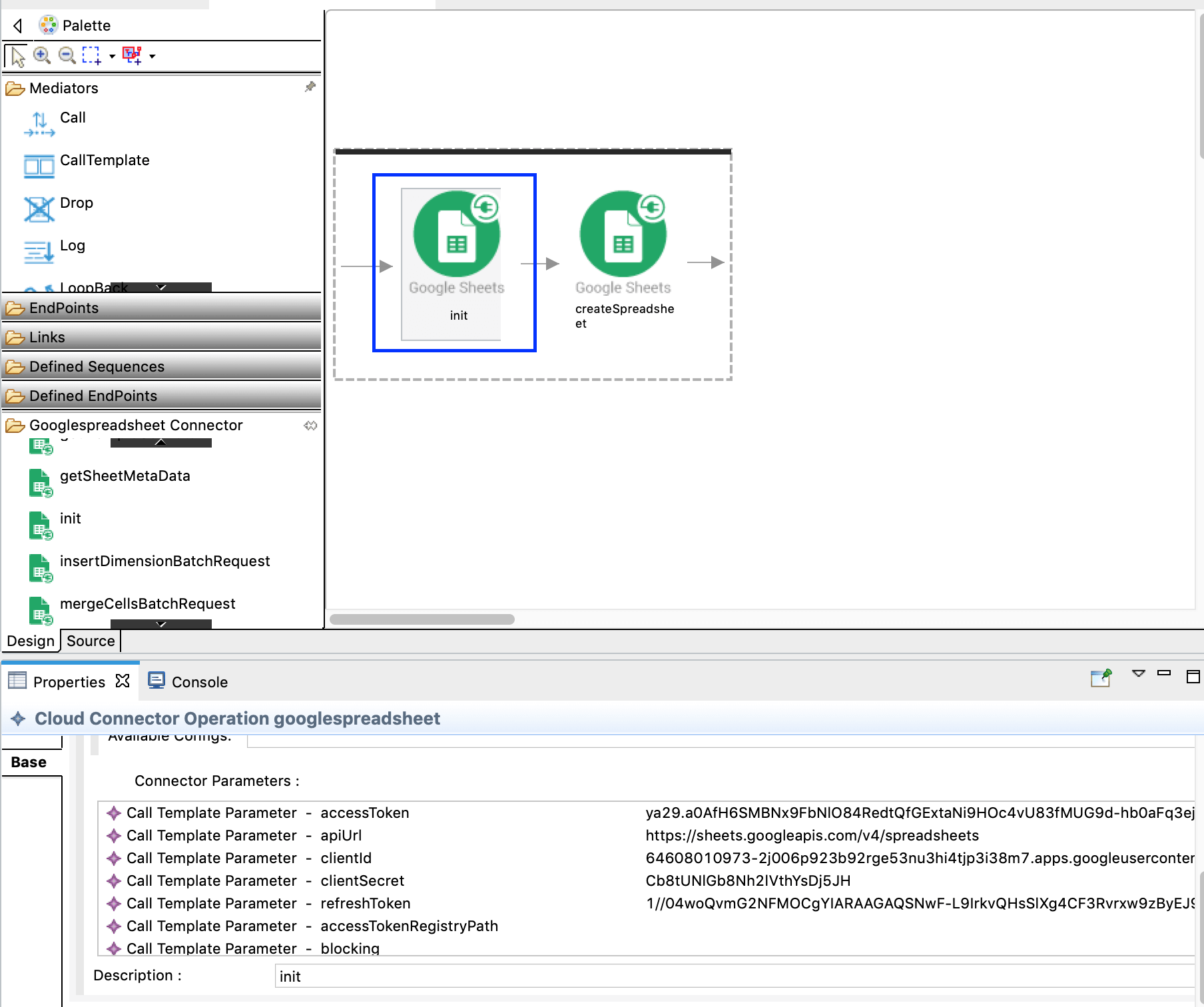 init operation