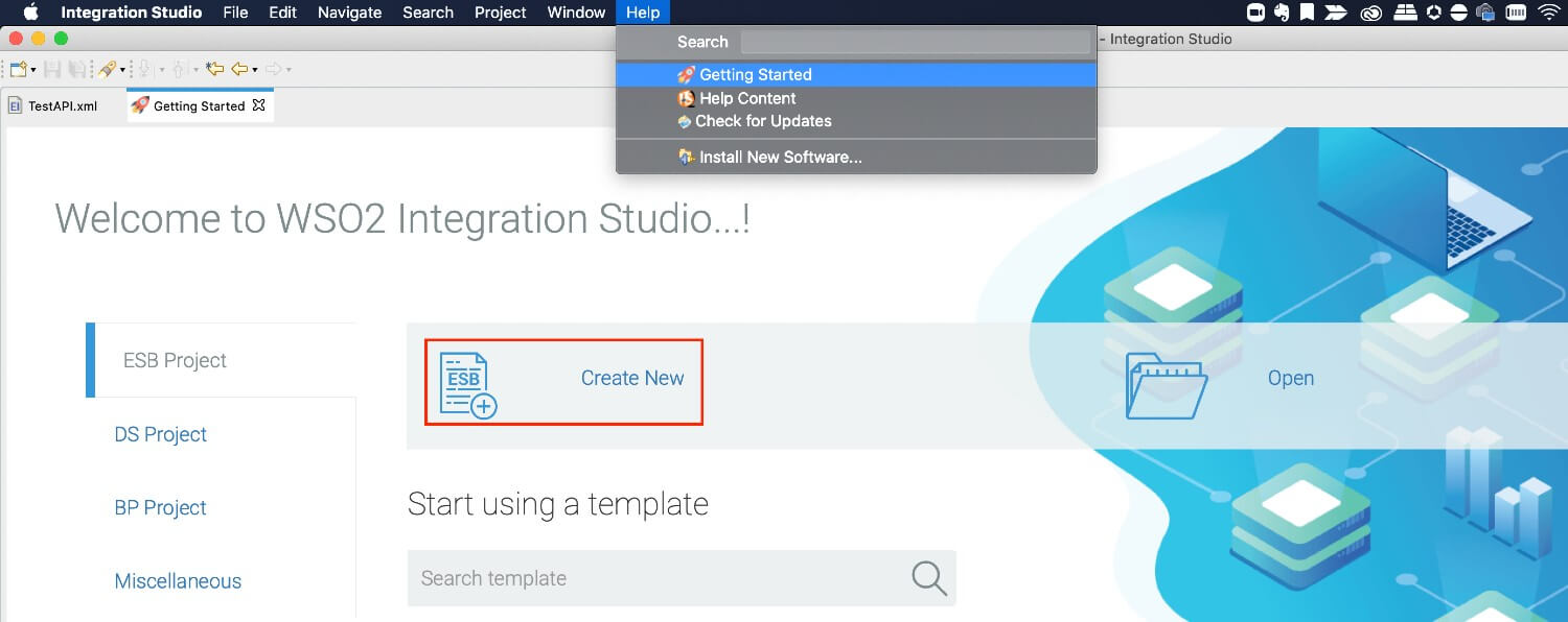 Creating a new Integration Project