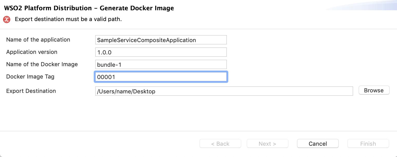 Create docker image dialog