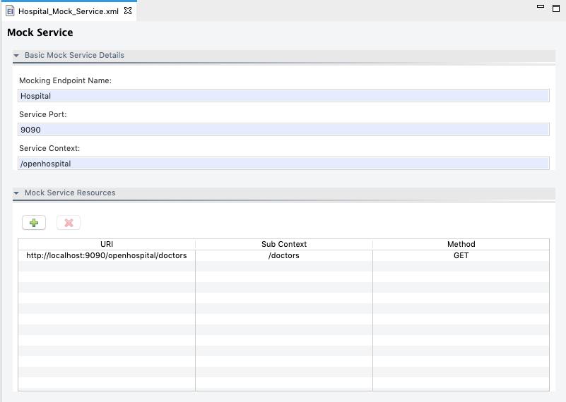 Mock Service Form