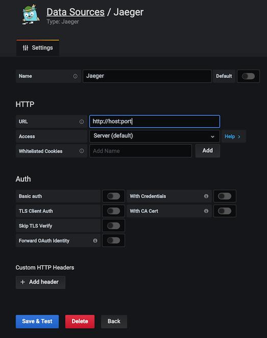 Enter Basic Jaeger Information