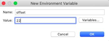 run configurations environments