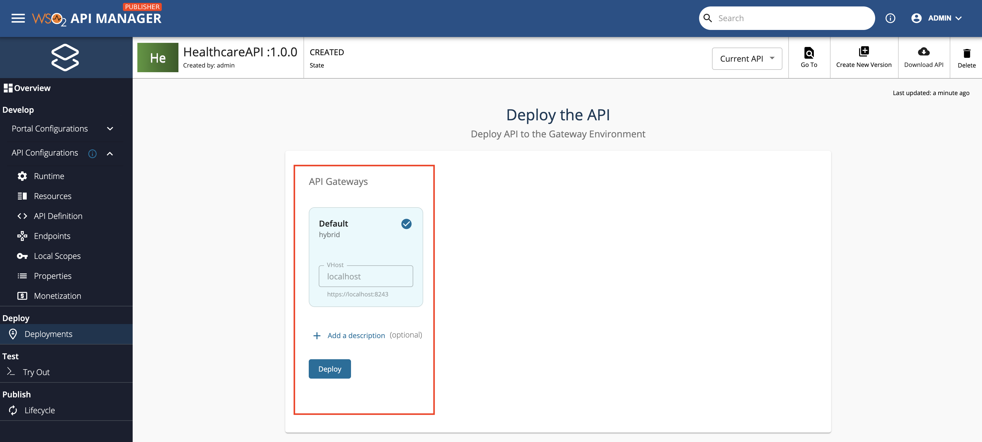 select gateways for the deployment