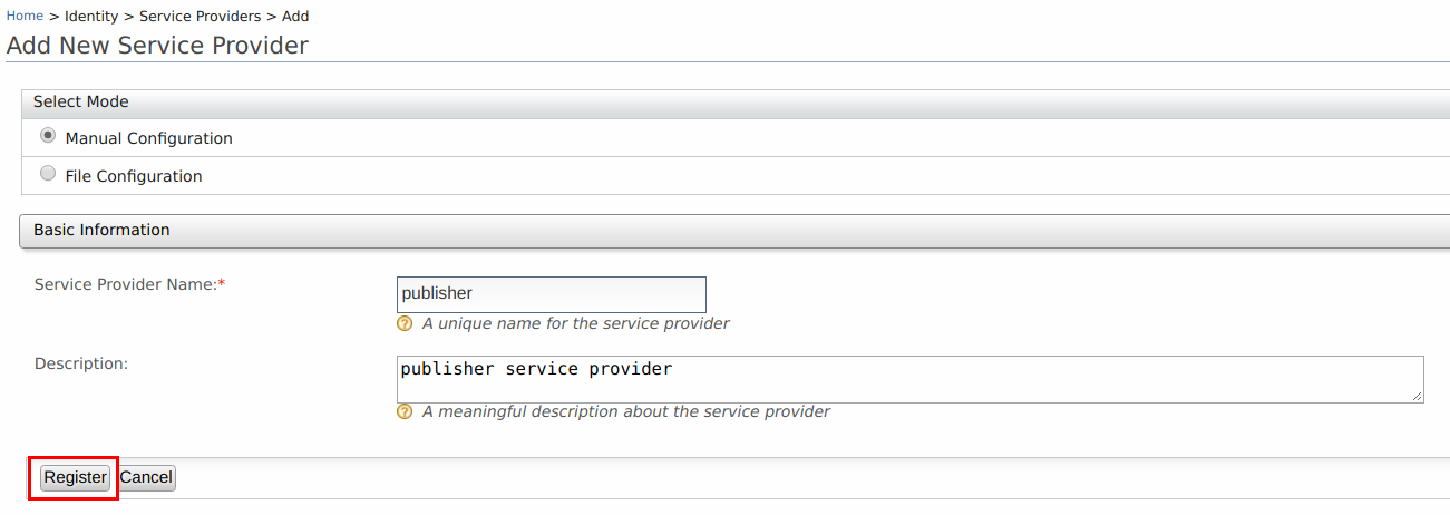Add new service provider