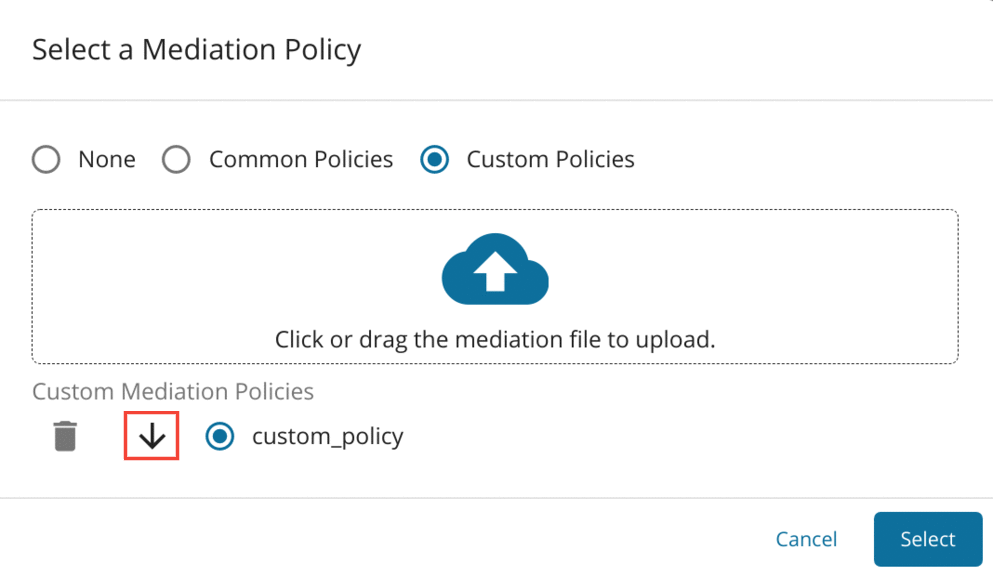 Download and Edit Mediation Policy
