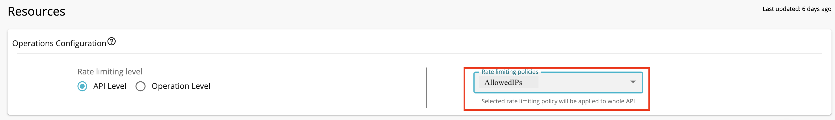 Apply allowlist to API