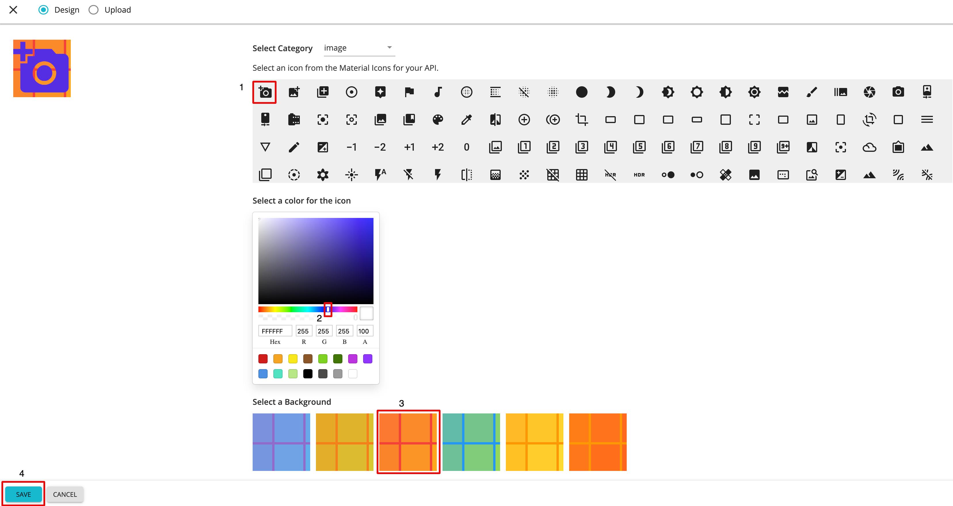 change thumbnail design icon