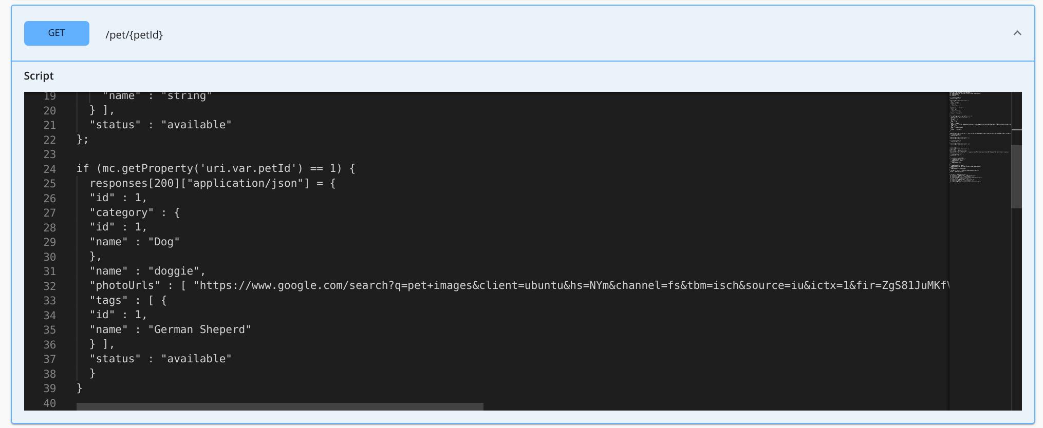 Modified inline script