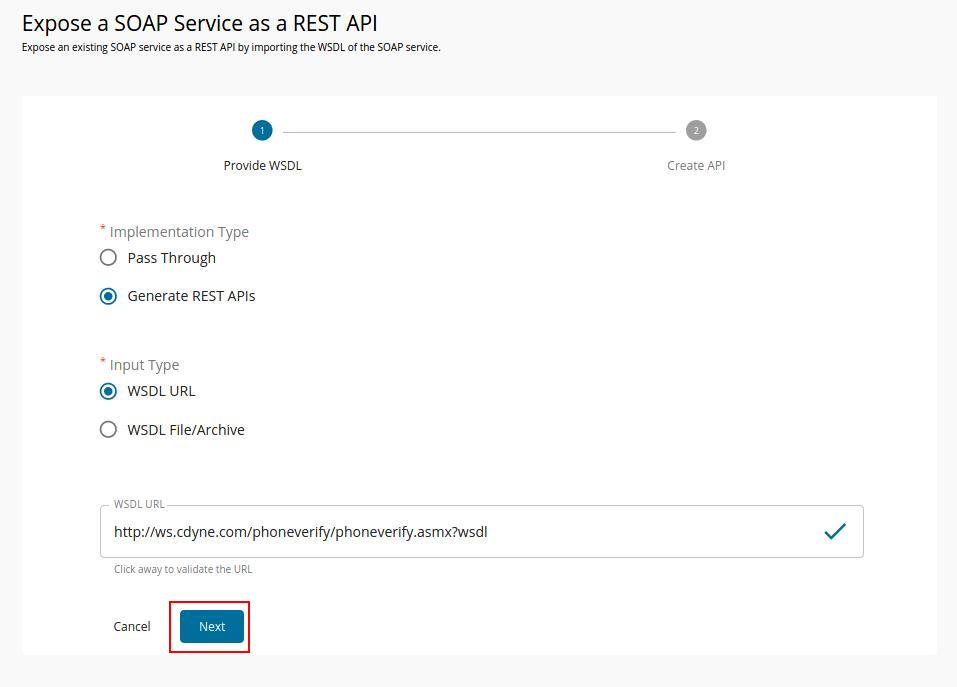 Create SOAP API as a generated API