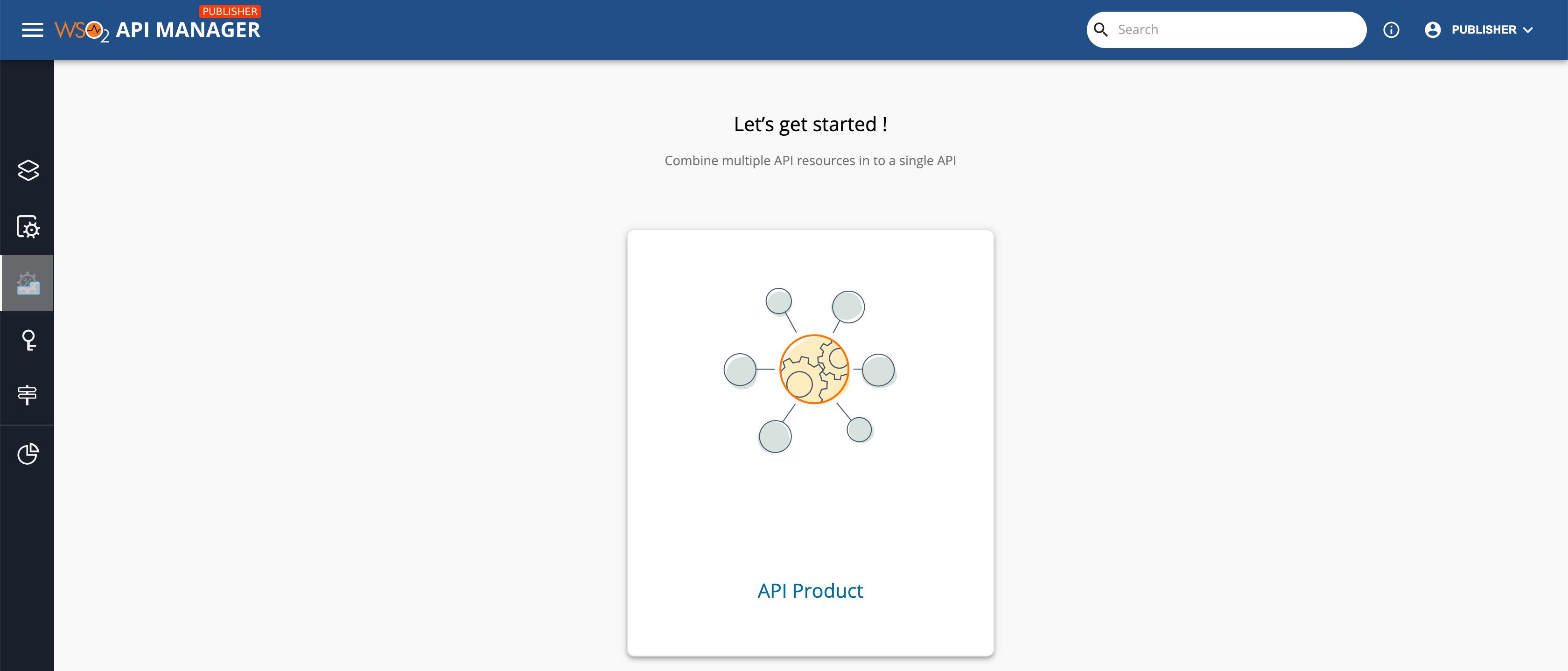 Create API Product Menu