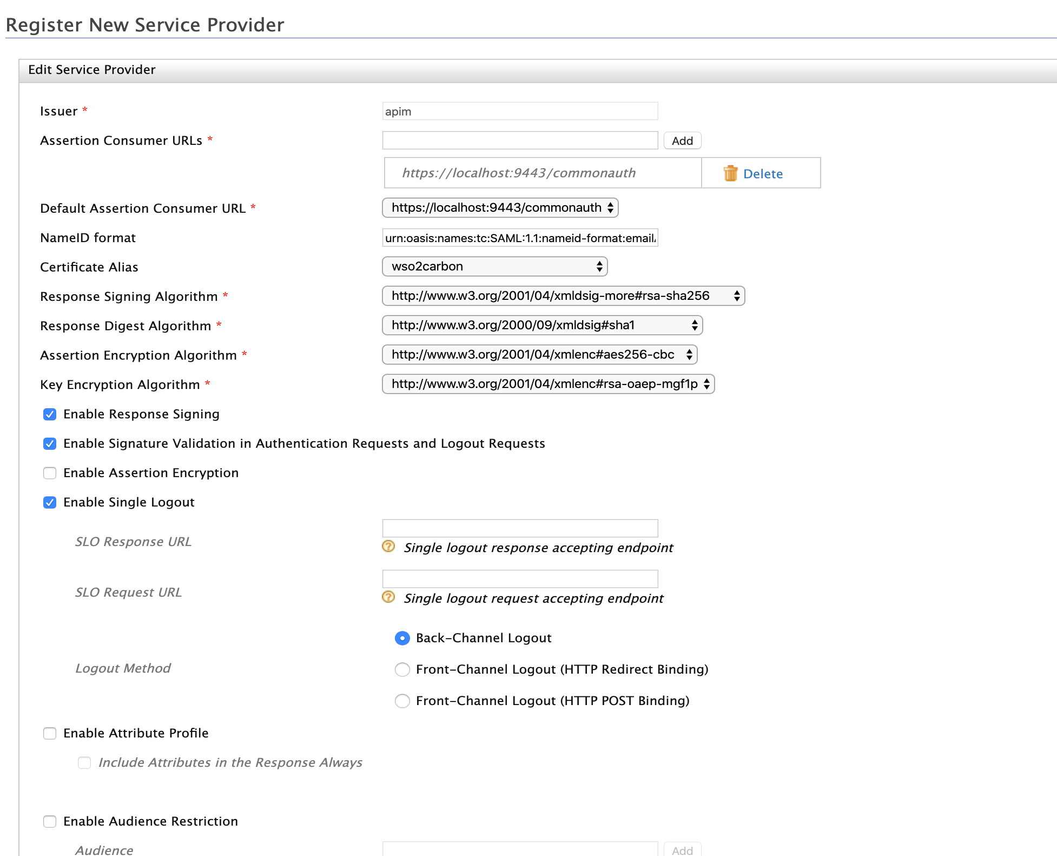 sample Service Provider