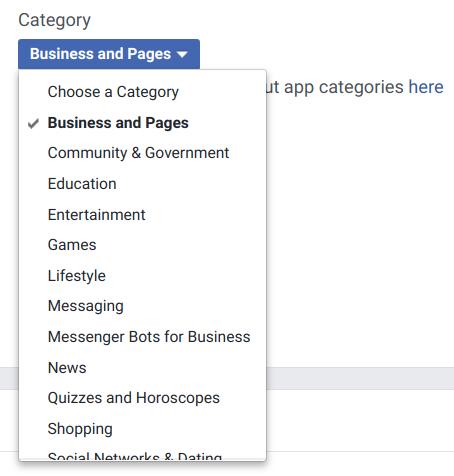 Facebook App Category
