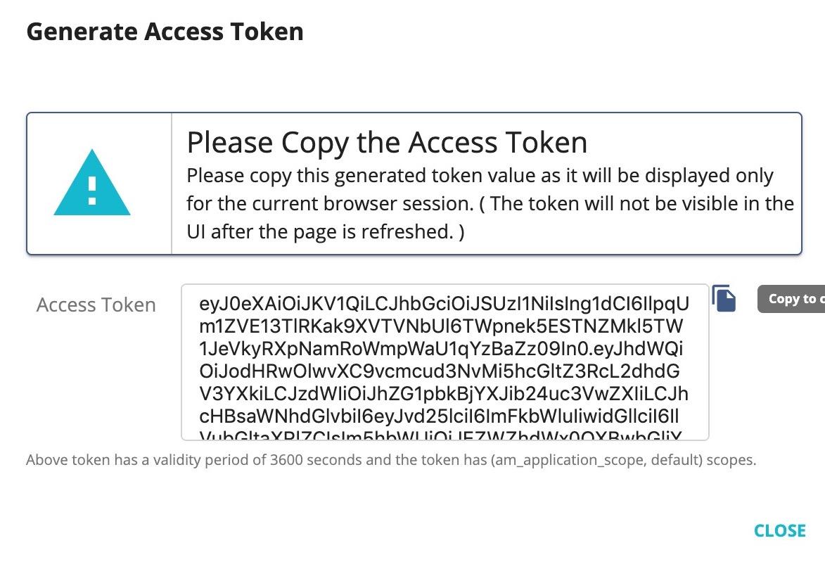 Authorization token