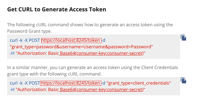Generate Access Token