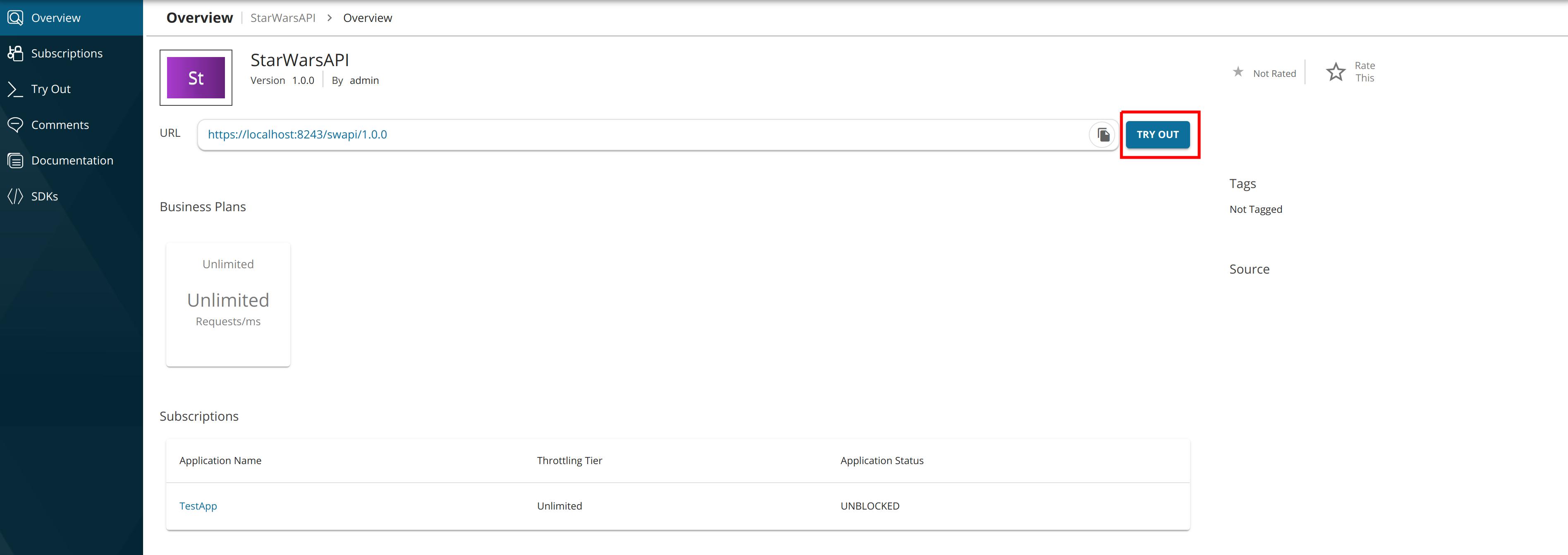 Test GraphQL API