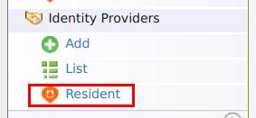 Identity Provider Resident