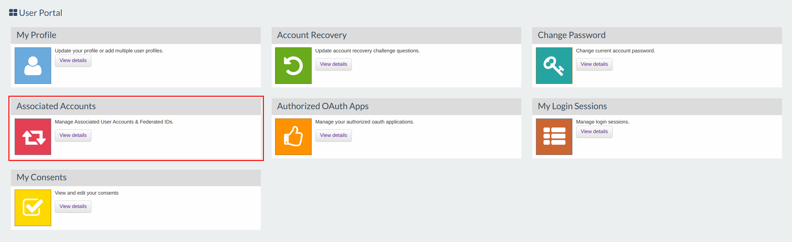 Associated Accounts Gadget