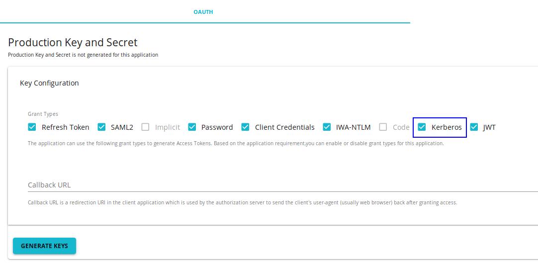 Kerberos grant application