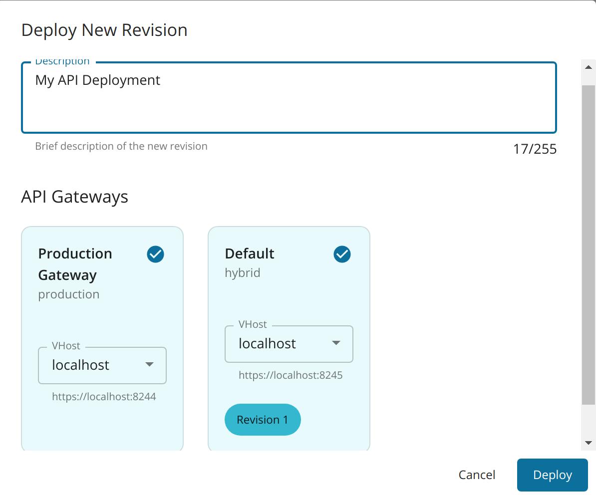 Filled Multiple Gateways Dialog