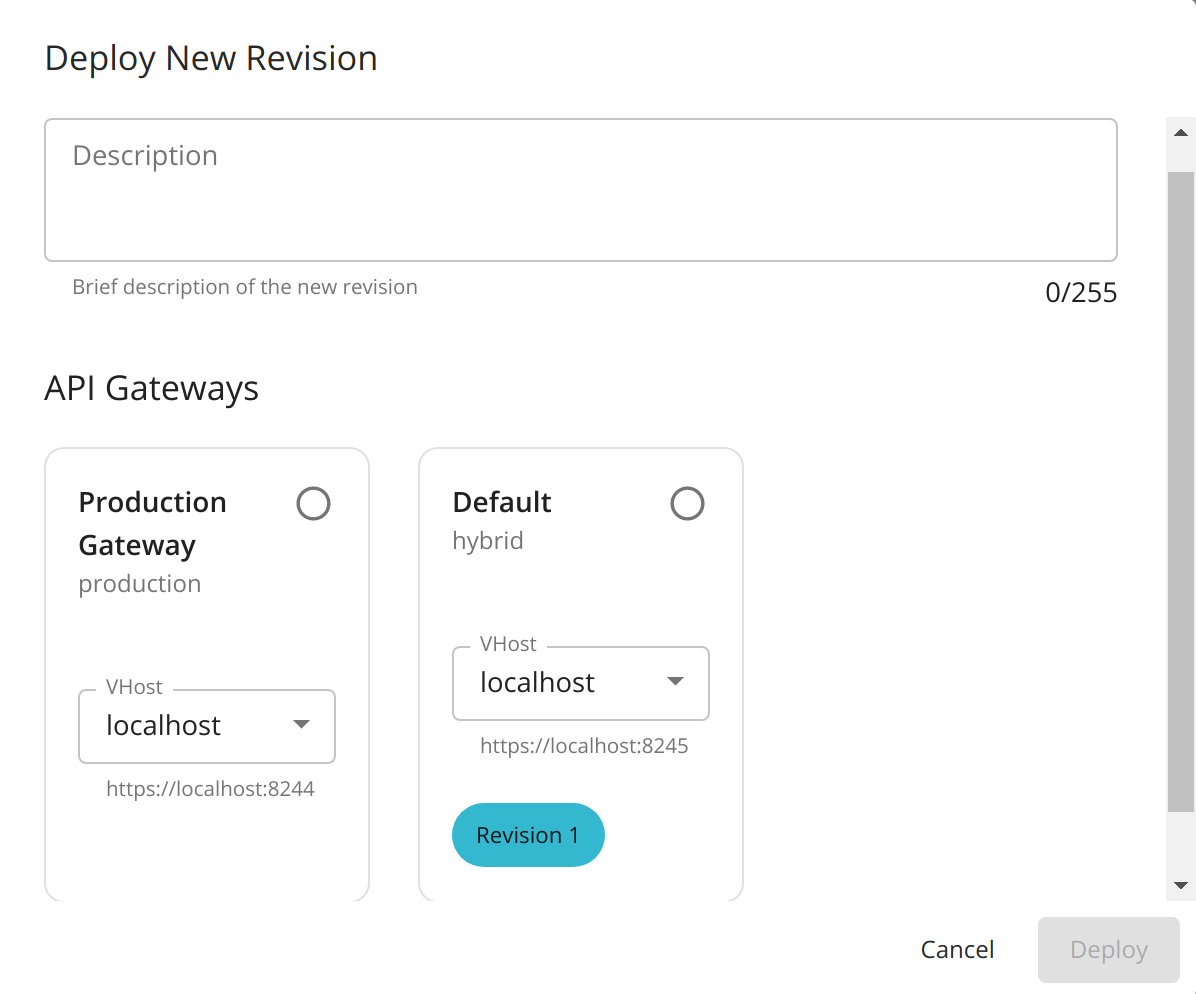 Multiple Gateways Dialog