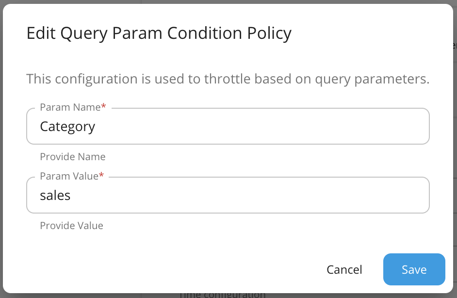 New advanced throttling query condition