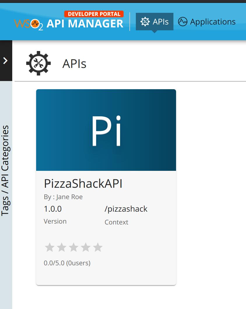 Dev Portal Pizza Shack