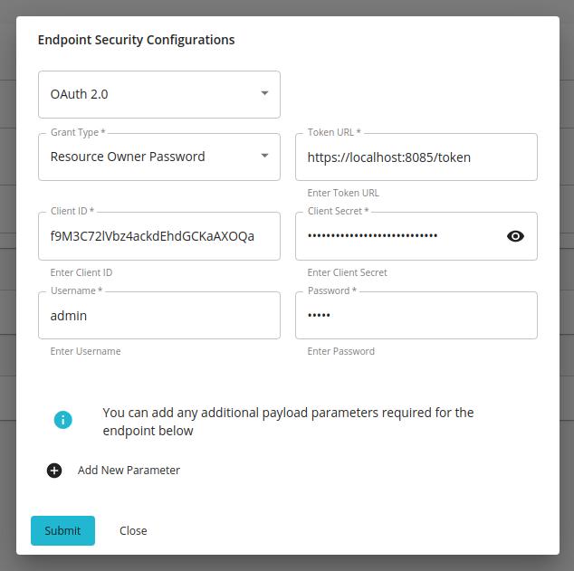 resource owner password config