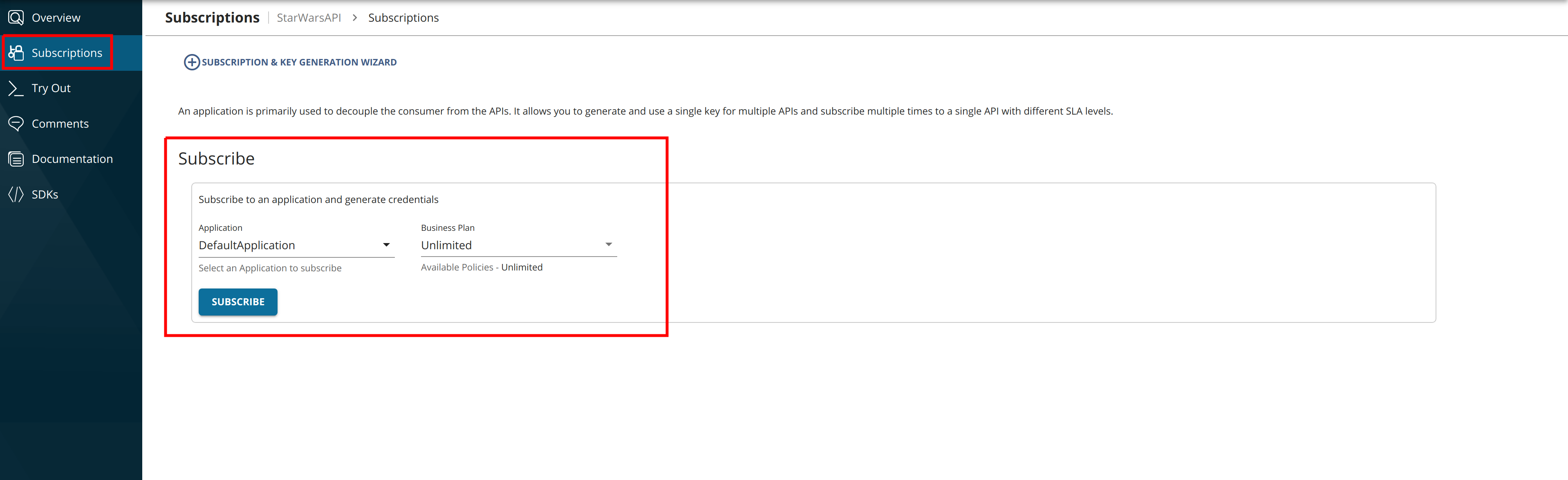Subscribe to the GraphQL API