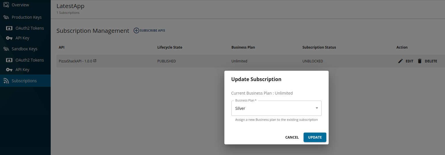 Subscriptions update_popup