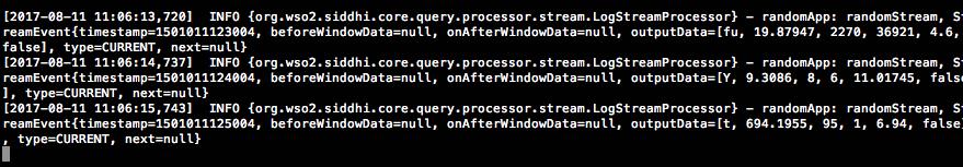Random Events Output Log