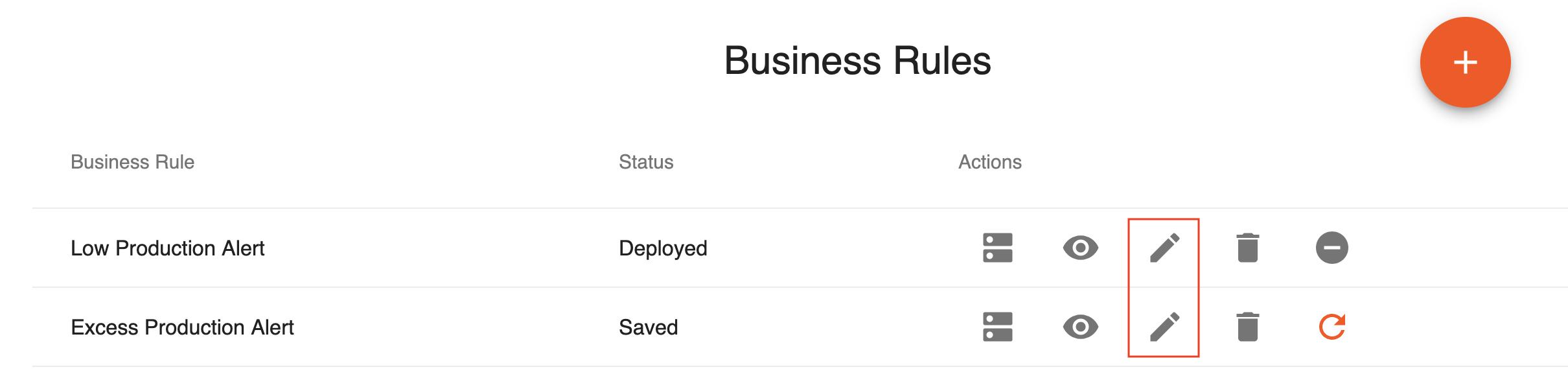 Edit Business Rule