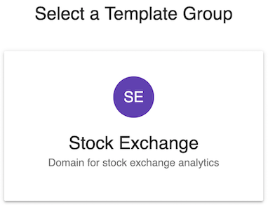 Select a template group