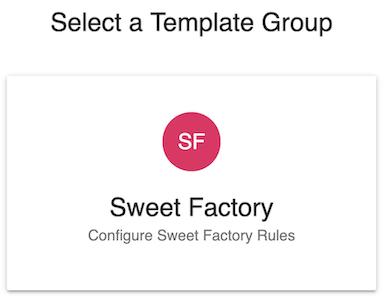 Select template group